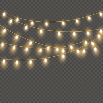 Weihnachtsbeleuchtung isoliert
