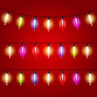 Weihnachtsbeleuchtung - karneval glühbirnen aufgereiht
