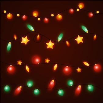 Weihnachtsbeleuchtung mit farbverlauf