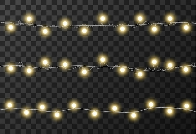 Weihnachtsbeleuchtung transparenten hintergrund