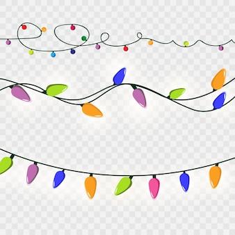Weihnachtsbeleuchtung weihnachtsgirlande mit bunten lichtern