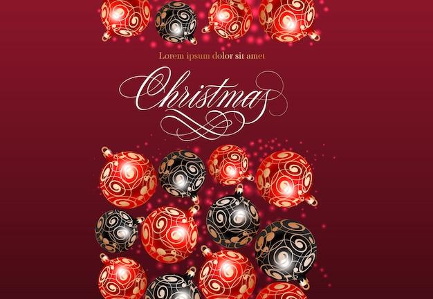 Weihnachtsbeschriftung mit flittermuster