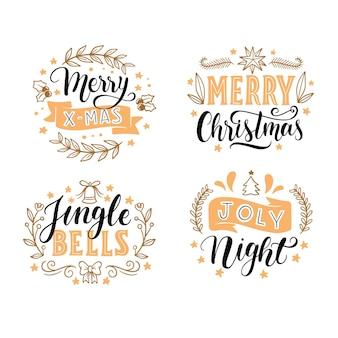 Weihnachtsbeschriftungsetikettensammlung