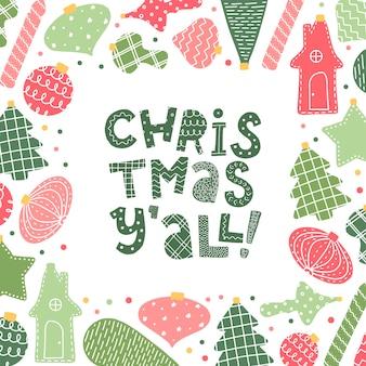Weihnachtsbeschriftungszitat für plakate und karten
