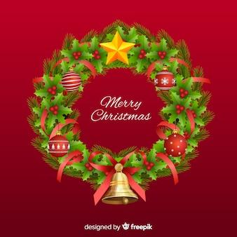 Weihnachtsbetriebskranzhintergrund