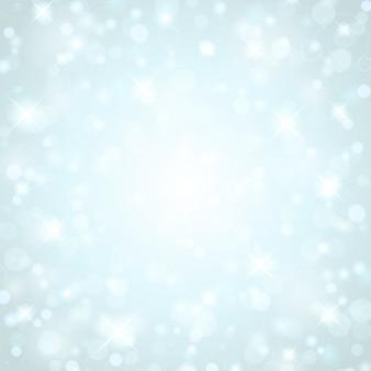 Weihnachtsblaue funkelnlichter von hellem glühen magisches bokeh und illustration