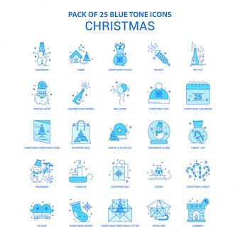 Weihnachtsblauer ton icon pack
