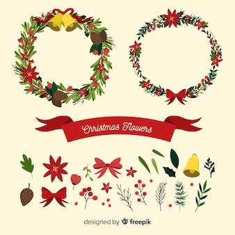 Weihnachtsblumen & kranzkollektion
