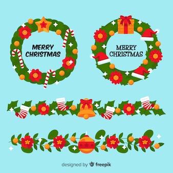 Weihnachtsblumen- und -kranzsammlung