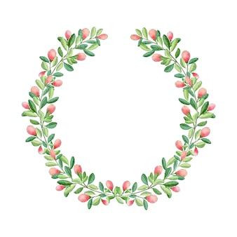 Weihnachtsblumenkranz aquarell
