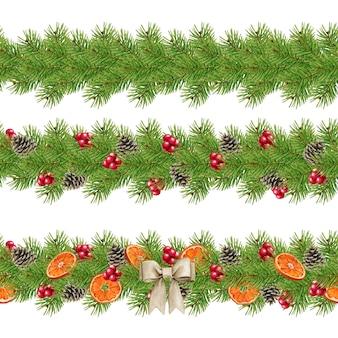 Weihnachtsblumenschmuck gesetzt