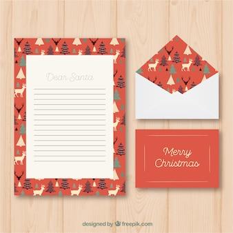Weihnachtsbrief-schablone en estilo weinlese