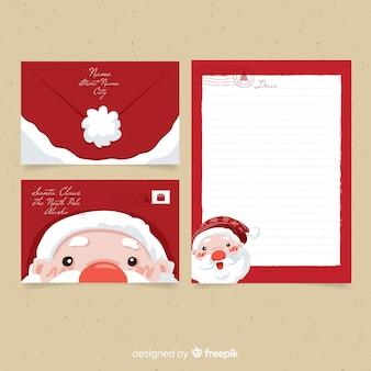 Weihnachtsbrief und umschlag
