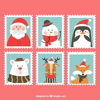 Weihnachtsbriefmarkensammlung