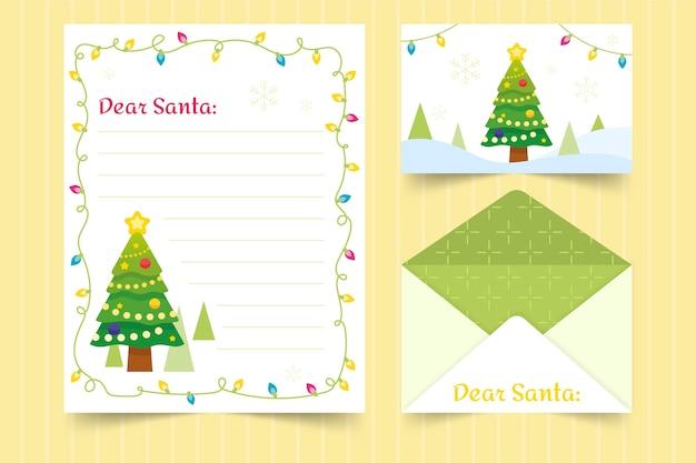 Weihnachtsbriefpapier-schablonenhand gezeichnet