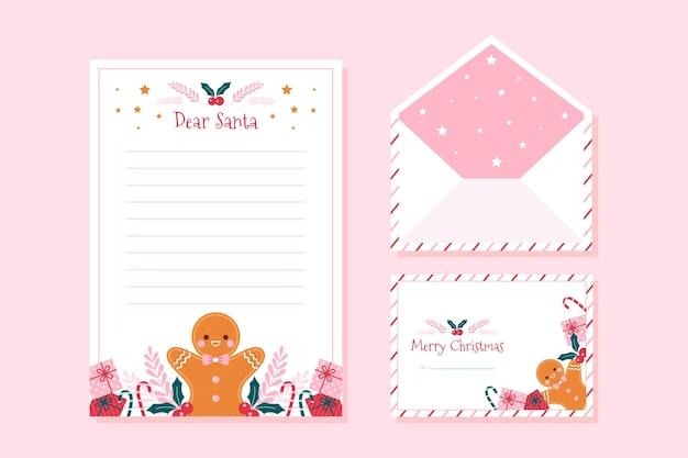 Weihnachtsbriefpapierschablone