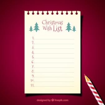 Weihnachtsbriefschablone mit bleistift