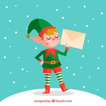 Weihnachtscharakter mit brief
