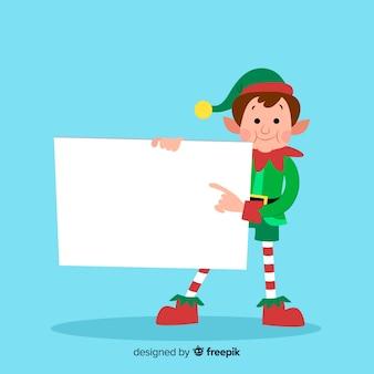 Weihnachtscharakter mit leerer karte