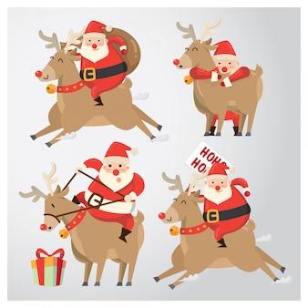 Weihnachtscharakter, sankt u. das ren
