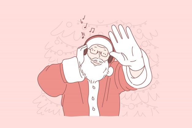 Weihnachtsclubparty, maskeradekonzept des neuen jahres