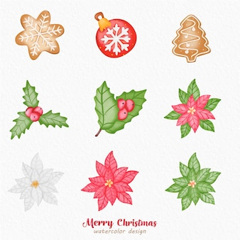 Weihnachtsdekoration aquarell