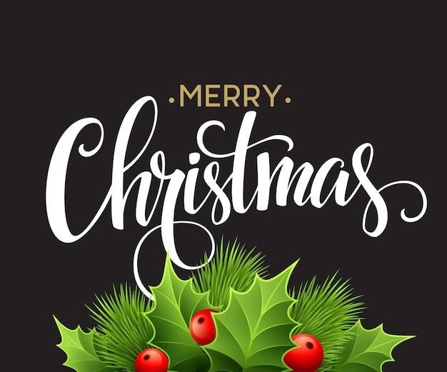 Weihnachtsdekoration auf kreidebrett, grußkarte