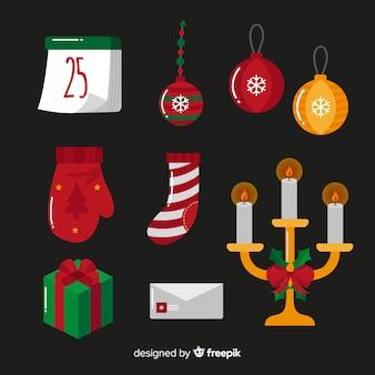 Weihnachtsdekoration elementsammlung
