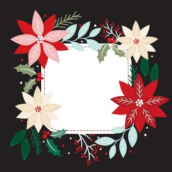 Weihnachtsdekoration für vorlage karte