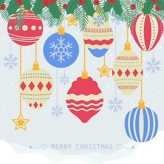 Weihnachtsdekoration für weihnachtshintergrund