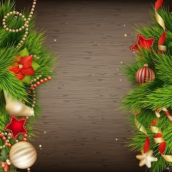 Weihnachtsdekoration hintergrund.