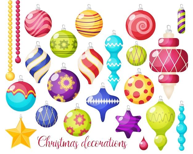 Weihnachtsdekoration icon set