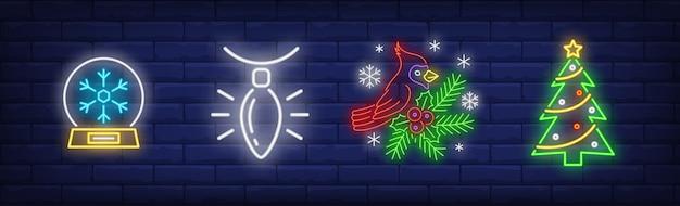 Weihnachtsdekoration in der neonartkollektion
