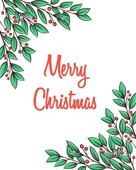 Weihnachtsdekoration mit handgezeichnetem stil.