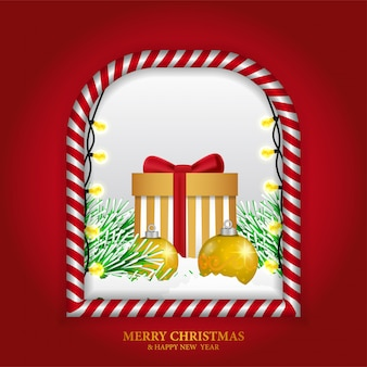 Weihnachtsdekoration mit rahmen