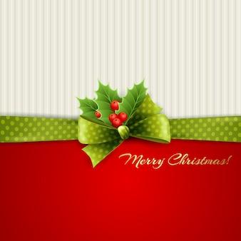Weihnachtsdekoration mit stechpalmenblättern