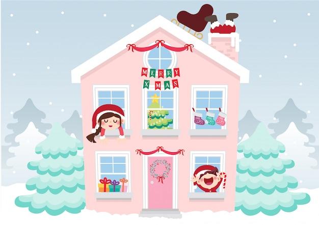 Weihnachtsdekoration süßes zuhause