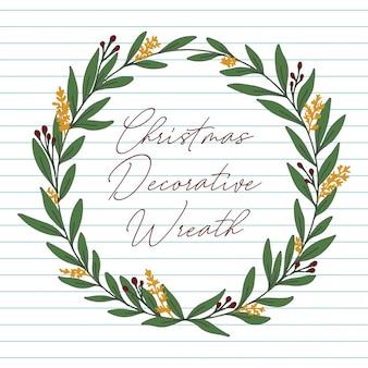 Weihnachtsdekorativer kranz