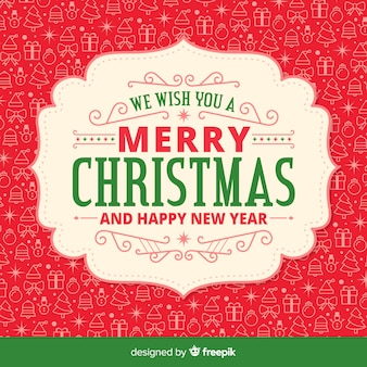 Weihnachtsdesign mit hintergrundmuster