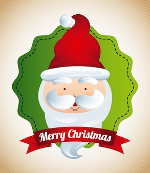 Weihnachtsdesign über beige hintergrundvektorillustration