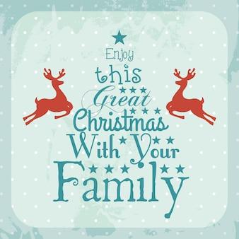 Weihnachtsdesign über blauer hintergrundvektorillustration