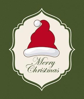 Weihnachtsdesign über grüner hintergrundvektorillustration
