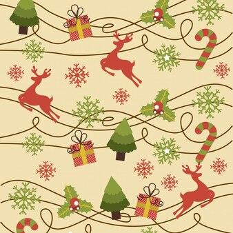 Weihnachtsdesign über rosa hintergrundvektorillustration