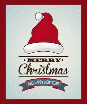 Weihnachtsdesign über roter hintergrundvektorillustration