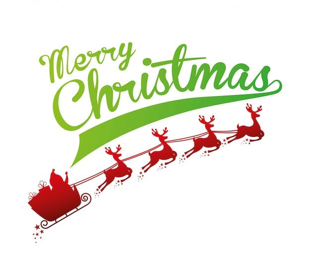 Weihnachtsdesign über weißer hintergrundvektorillustration