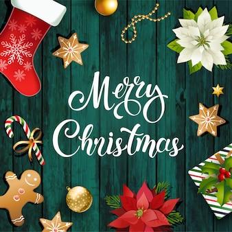 Weihnachtsdesign zusammensetzung