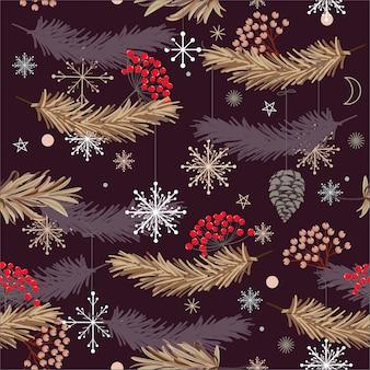 Weihnachtsdesigne, nahtloses vektormuster