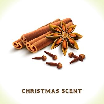 Weihnachtsduft hintergrund-design