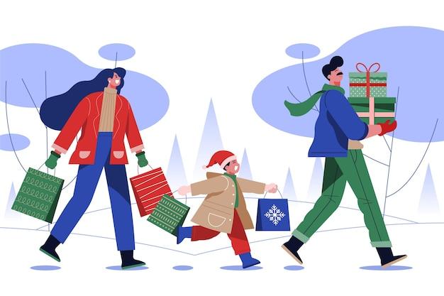 Weihnachtseinkaufsszene