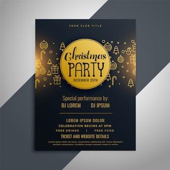 Weihnachtseinladungsflieger-plakatdesign